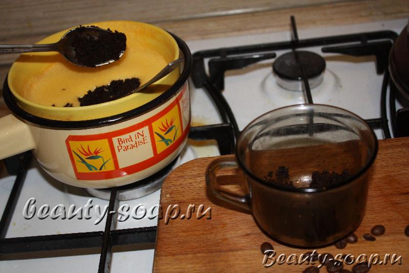 Кофейное мыло с эфирными маслами своими руками7