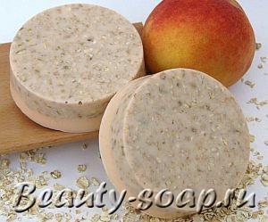 Рецепт увлажняющего персикового мыла с детской кашей
