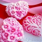 Мыло-сердце на День Святого Валентина
