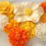 """Мыло ручной работы """"Весенние цветы"""""""