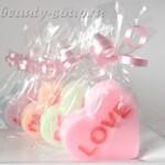 Мыло в форме сердечка с надписью