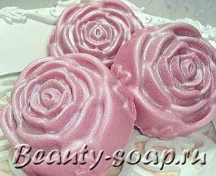 Рецепт розового мыла с перламутром