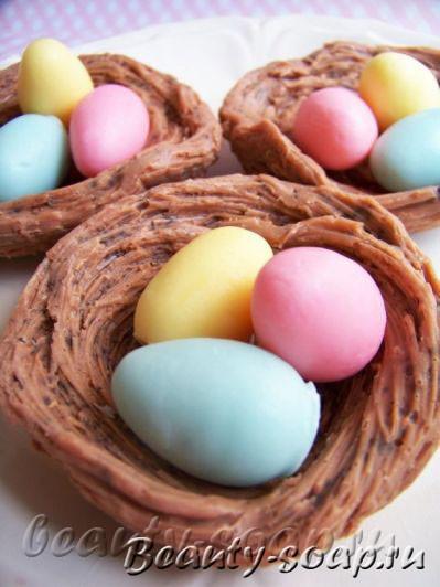 Пасхальное мыло в форме яиц