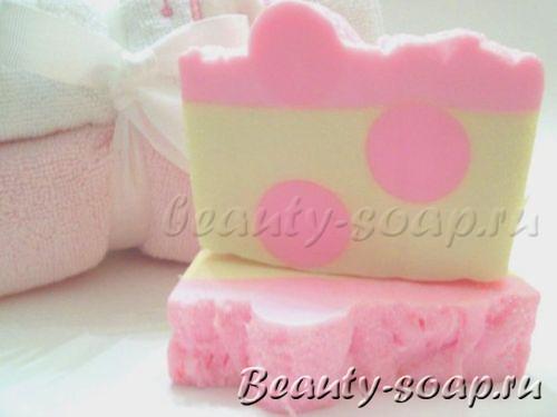 Оригинальное розовое мыло
