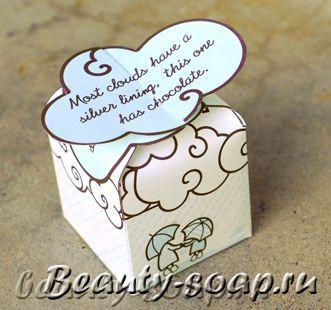 Схема коробочки из бумаги