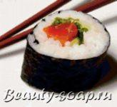 Мыло в форме роллов и суши, мастер-класс