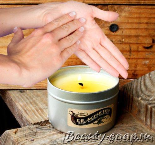 Как сделать массажную свечу, фото