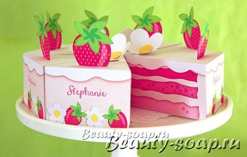Коробочка в виде торта