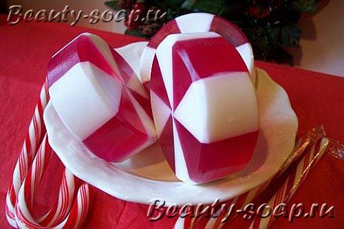 Красивое конфетное мыло на рождество