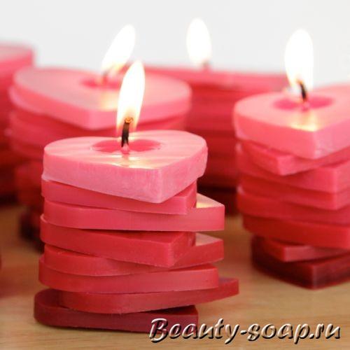 Фигурные свечи из разноцветного воска