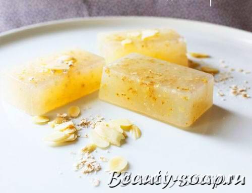 Мыло-скраб с овсянкой, красивое фото