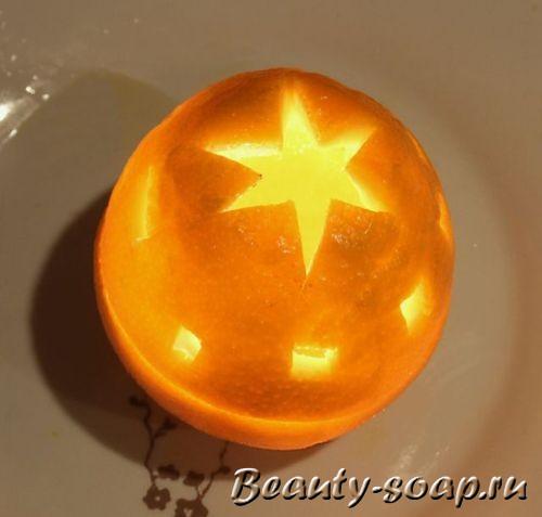Как сделать свечу из апельсина, фото