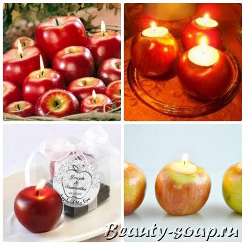 Свеча яблоко, красивое фото