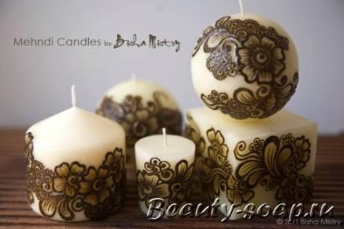 красивые круглые свечи