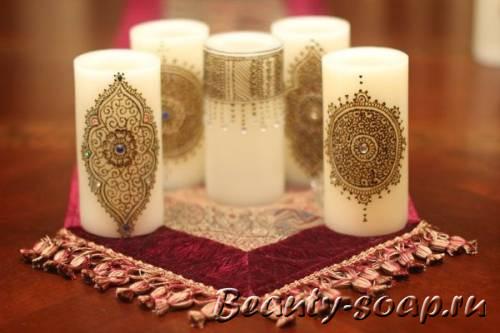Узоры на свечах