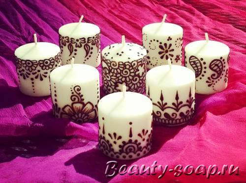 очень красивые свечки