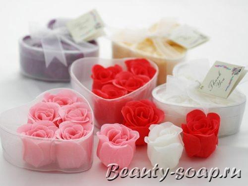 сувенироное мыло в форме роз
